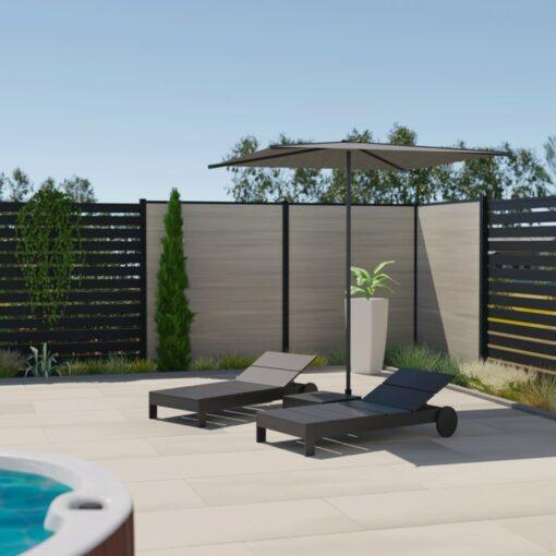 délimiter son jardin avec une clôture composite